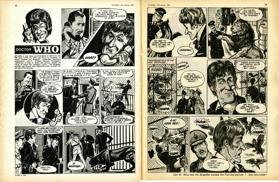 First strip featuring Jon Pertwee as the Doctor, TV Comic no. 944, 17 January 1970