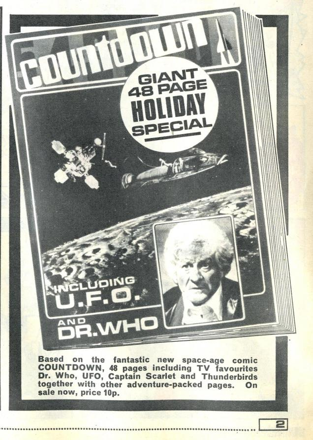 Ad. for the Countdown Holiday Special in Countdown issue 17, 12 June 1971