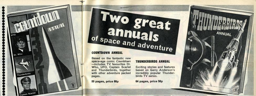 Ad. for the Countdown Annual in Countdown issue 33, 2 October 1971