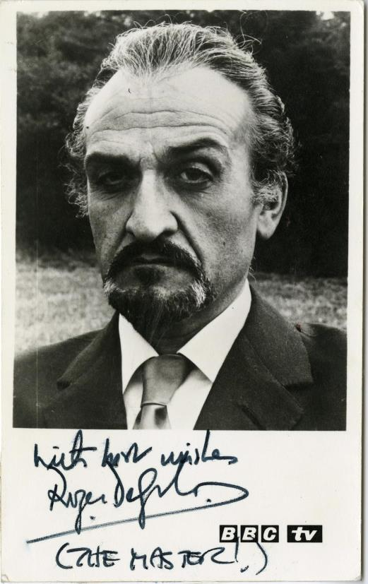 BBC TV Cast Card for Roger Delgado as the Master