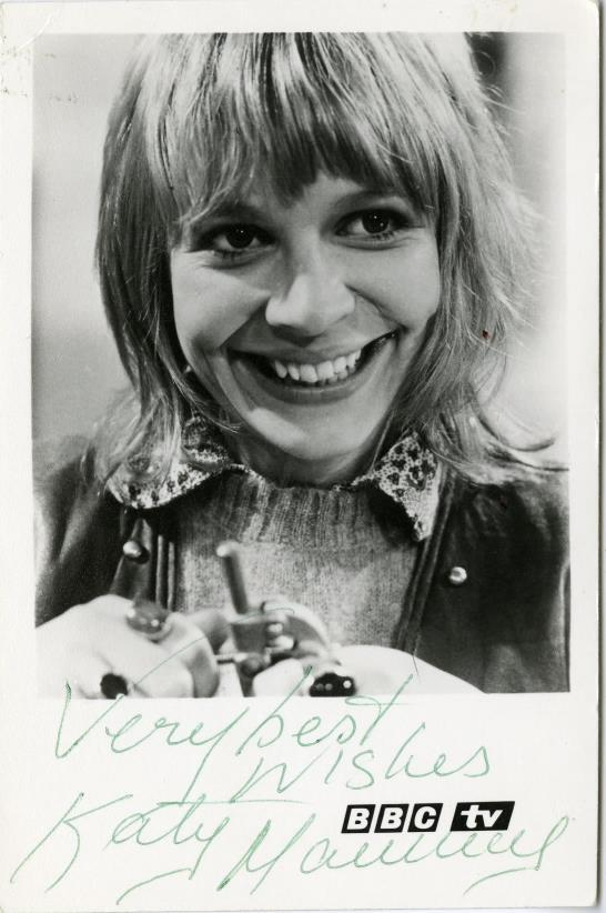BBC TV Cast Card of Katy Manning as Jo Grant