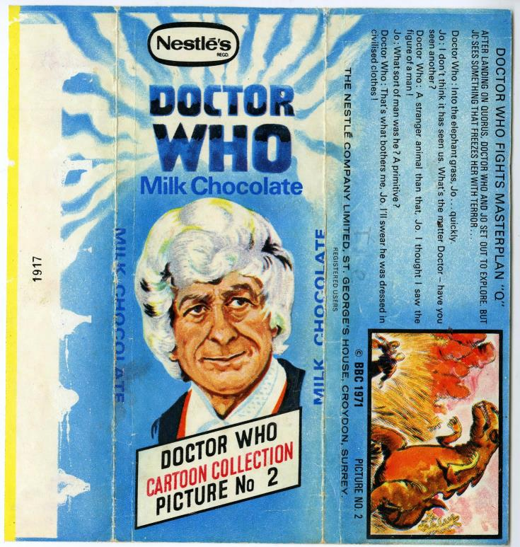 Nestle Doctor Who Milk Chocolate wrapper no. 2, unpriced version