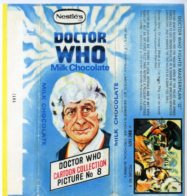 Nestle Doctor Who Milk Chocolate wrapper no. 8, unpriced version