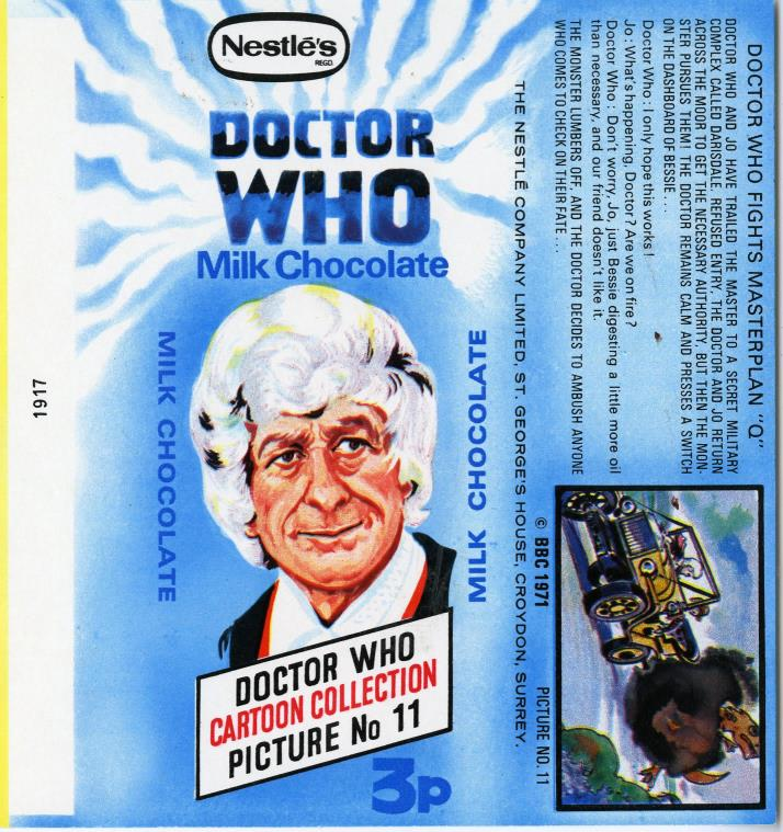 Nestle Doctor Who Milk Chocolate wrapper no. 11, original priced version