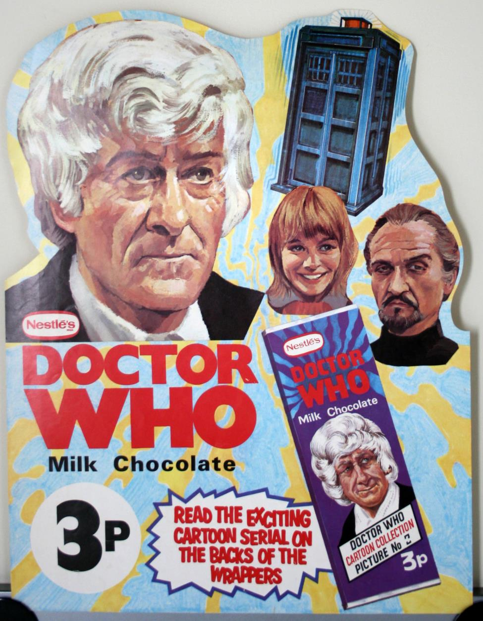 Nestle Doctor Who Milk Chocolate promotion, shop poster