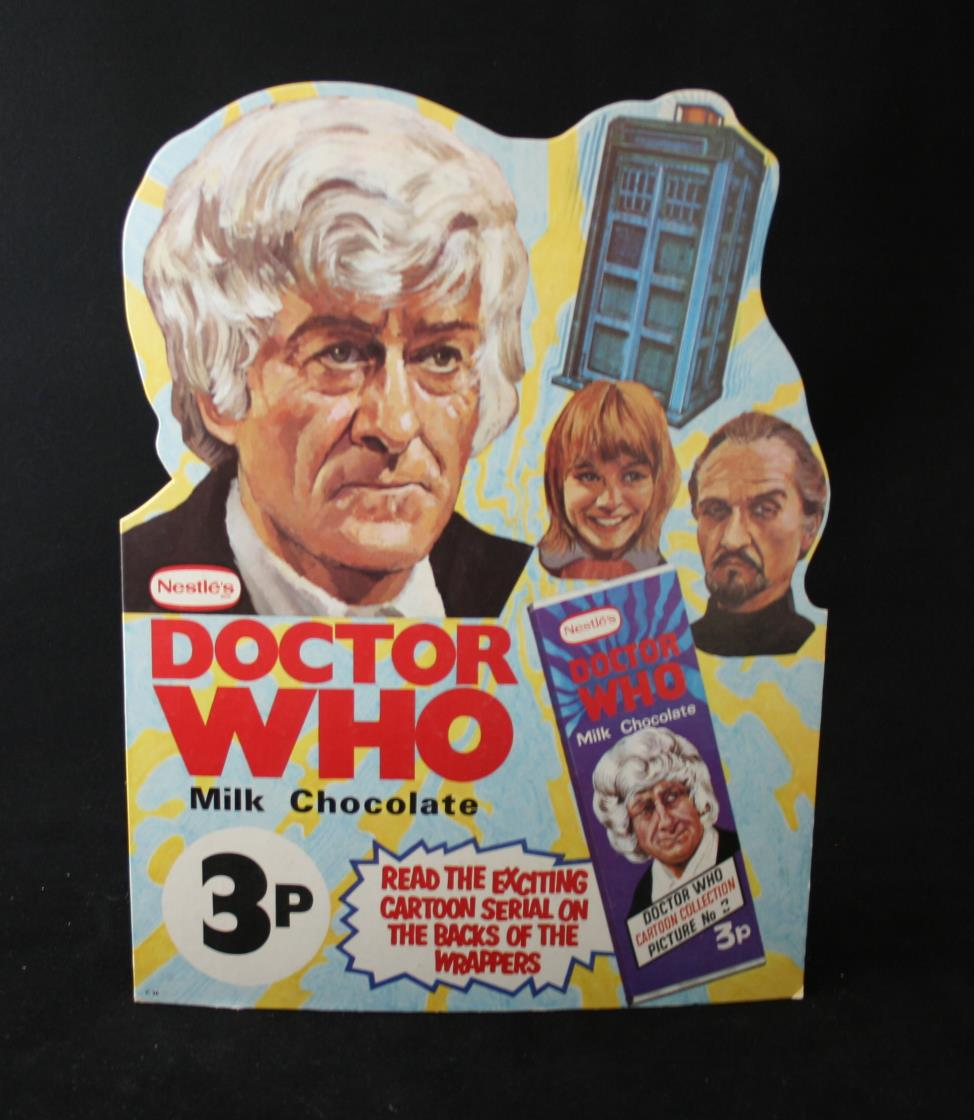 Nestle Doctor Who Milk Chocolate promotion, shop counter standee