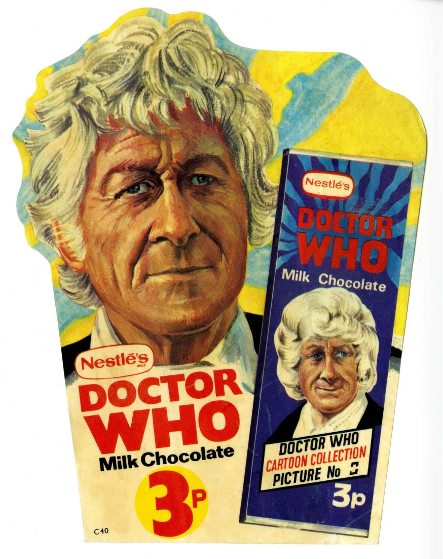 Nestle Doctor Who Milk Chocolate promotion, shop window sticker