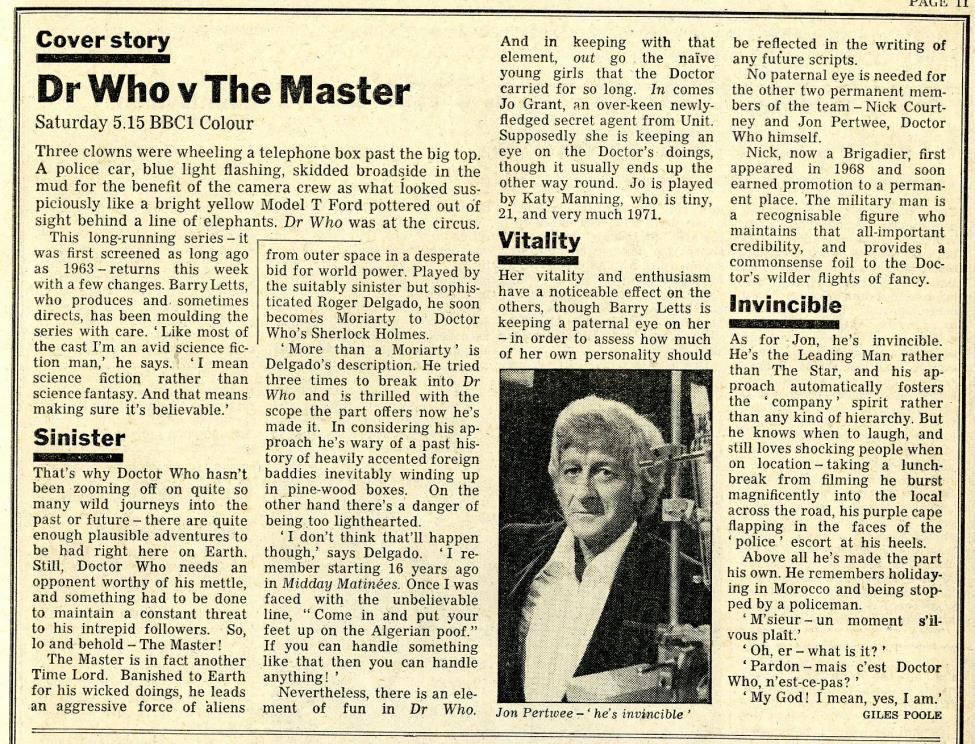 Radio Times, 2-8 January 1971
