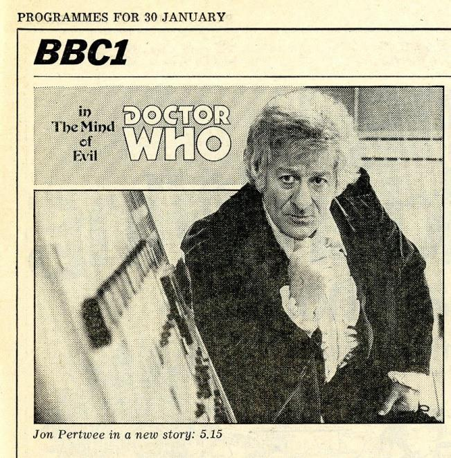 Radio Times, 30 January - 5 February 1971