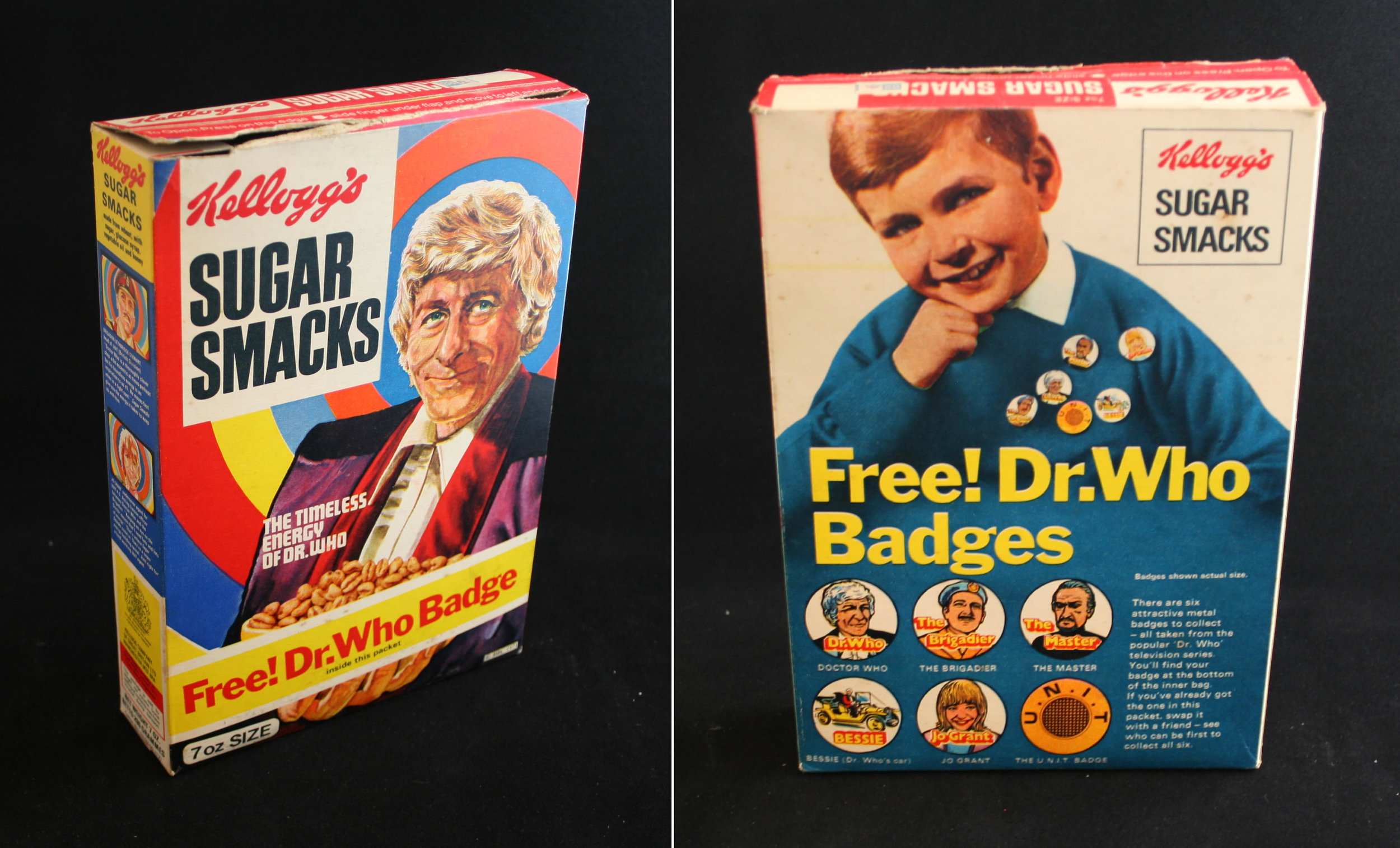 Kellog's Sugar Smacks with Doctor Who badge promotion