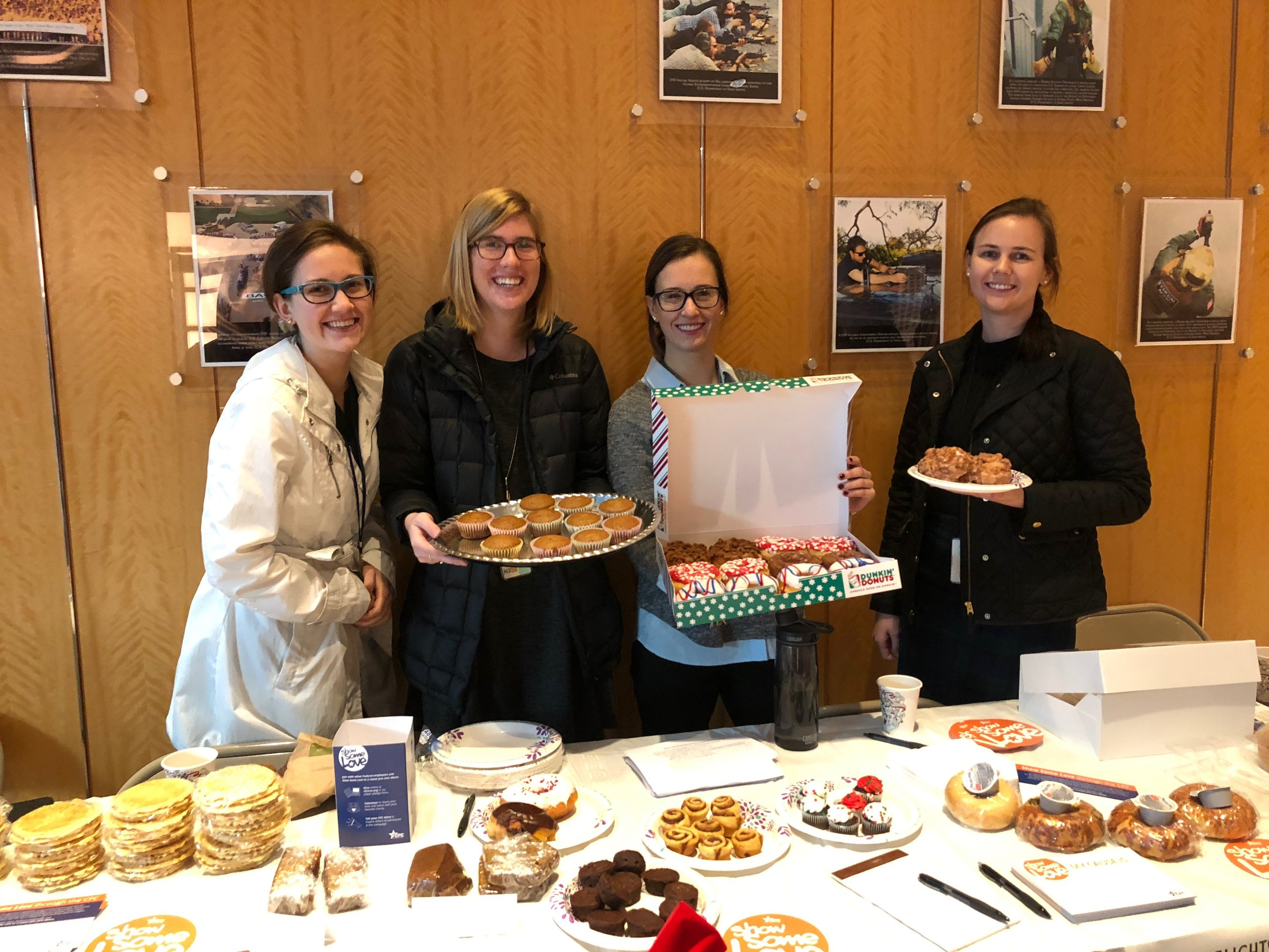 Thanks to the DS/EX Management office staff for hosting a CFC awareness bake sale!