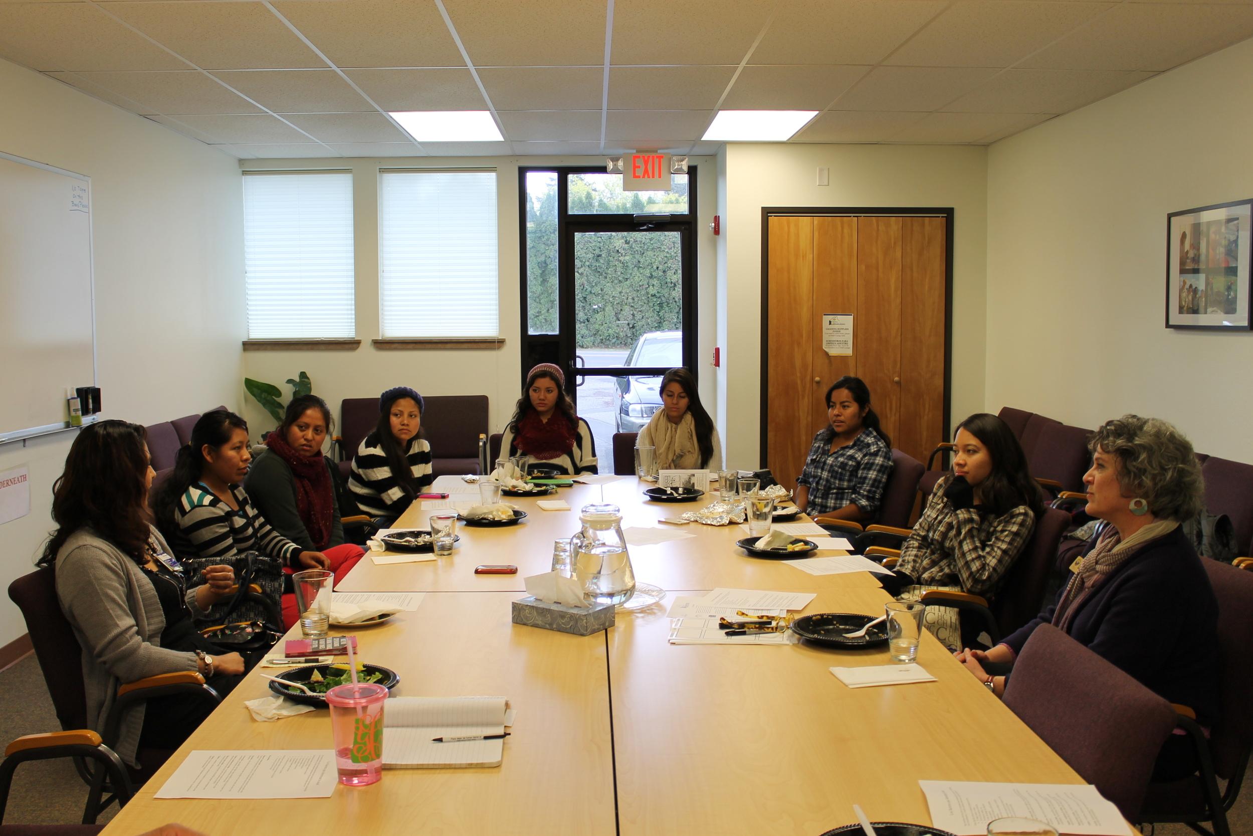 meeting with Nuestra Comunidad Sana