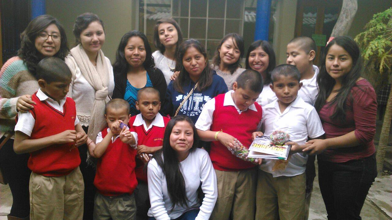 spending time with kids at an orphanage