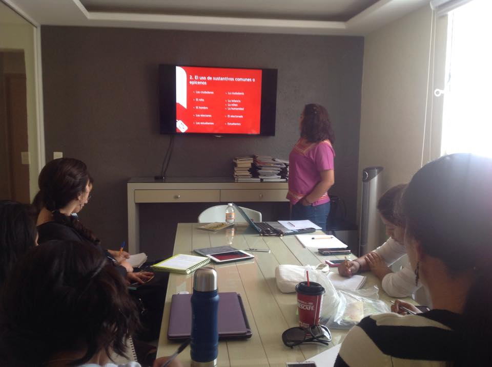 workshops on sexism in language