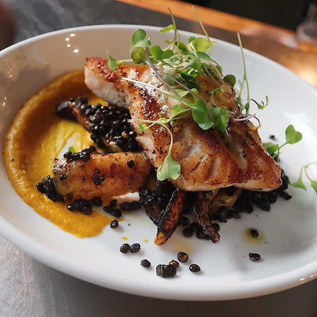 ROCKFISH // black lentils, charred carrots, miso butter // #yyj #yyjeats #rockfish #downtownvictoria #victoriabc #hudsondistrict