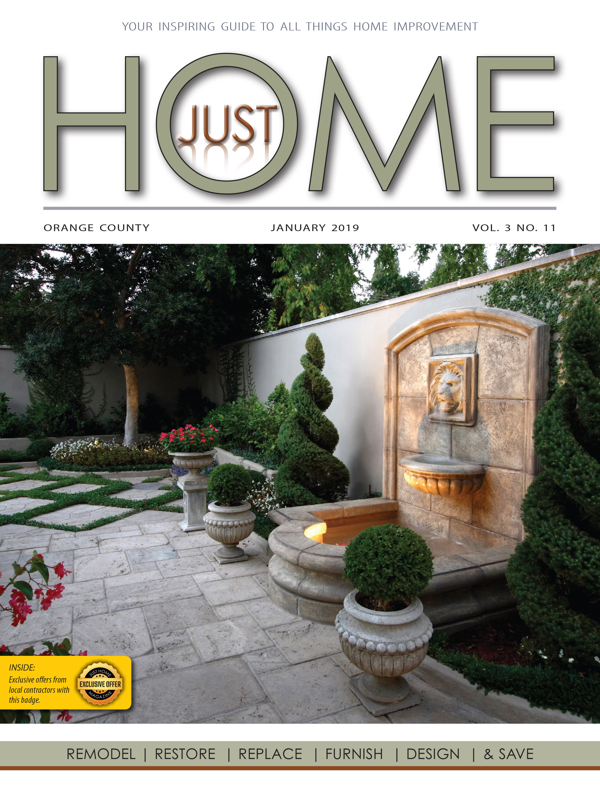ORange County  - Just Home January 2019 ISSUE