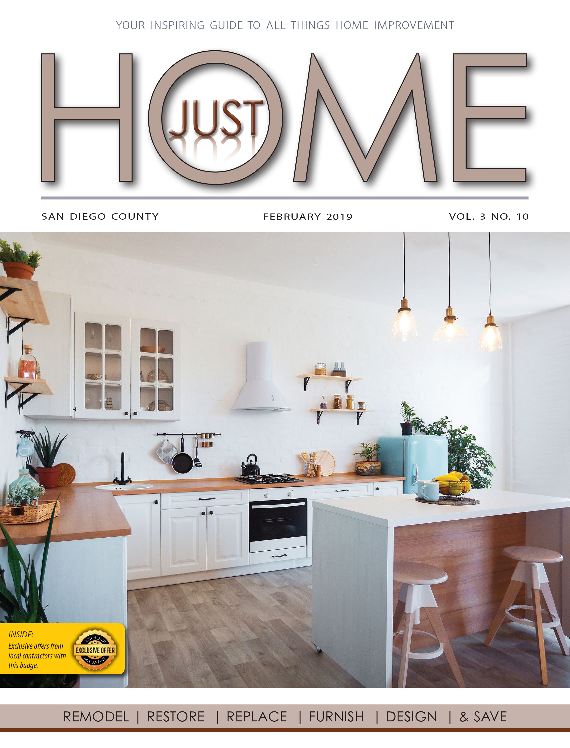 SAN DIEGO County  - Just Home FEBRUARY 2019 ISSUE