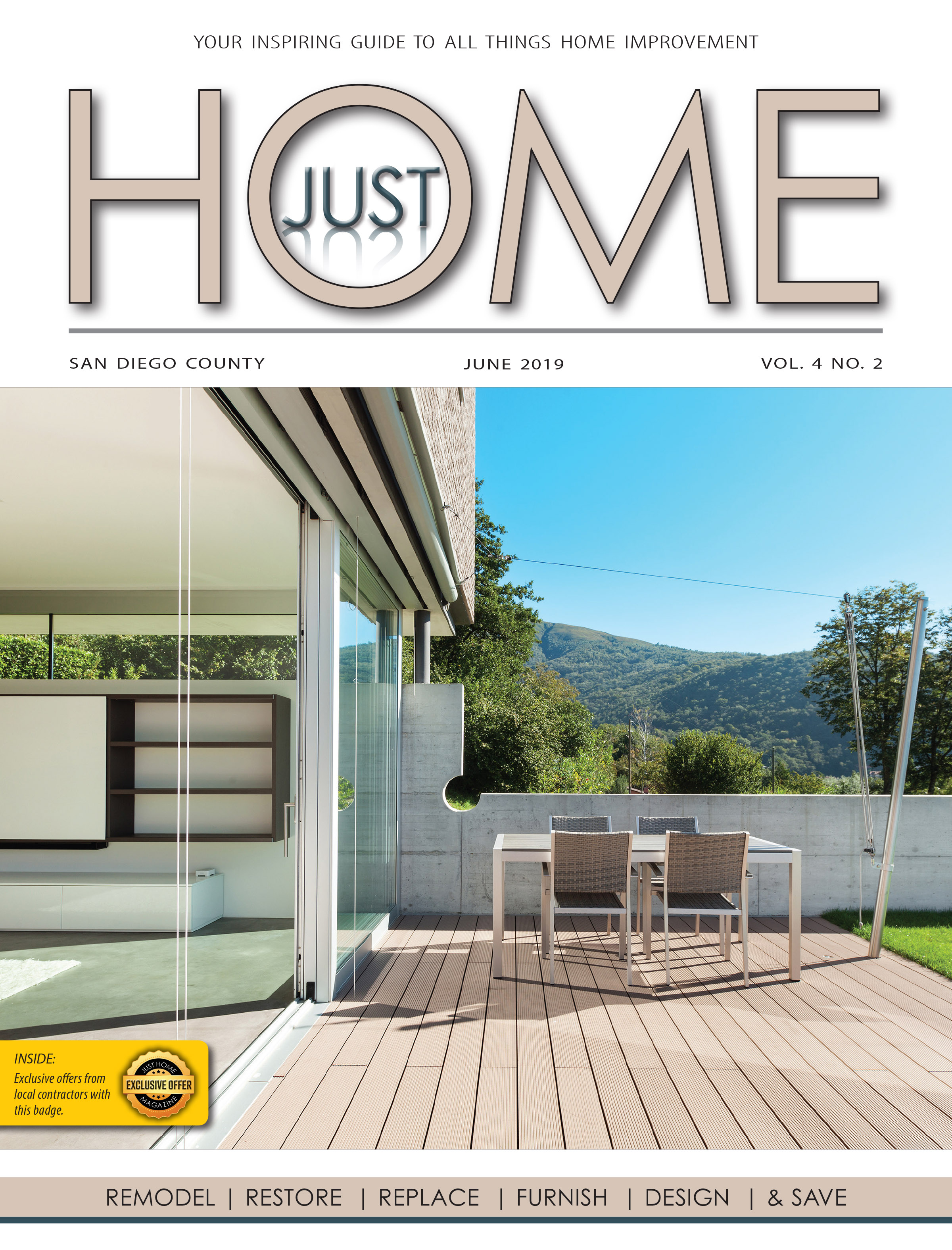 SAN DIEGO County  - Just Home June 2019 ISSUE