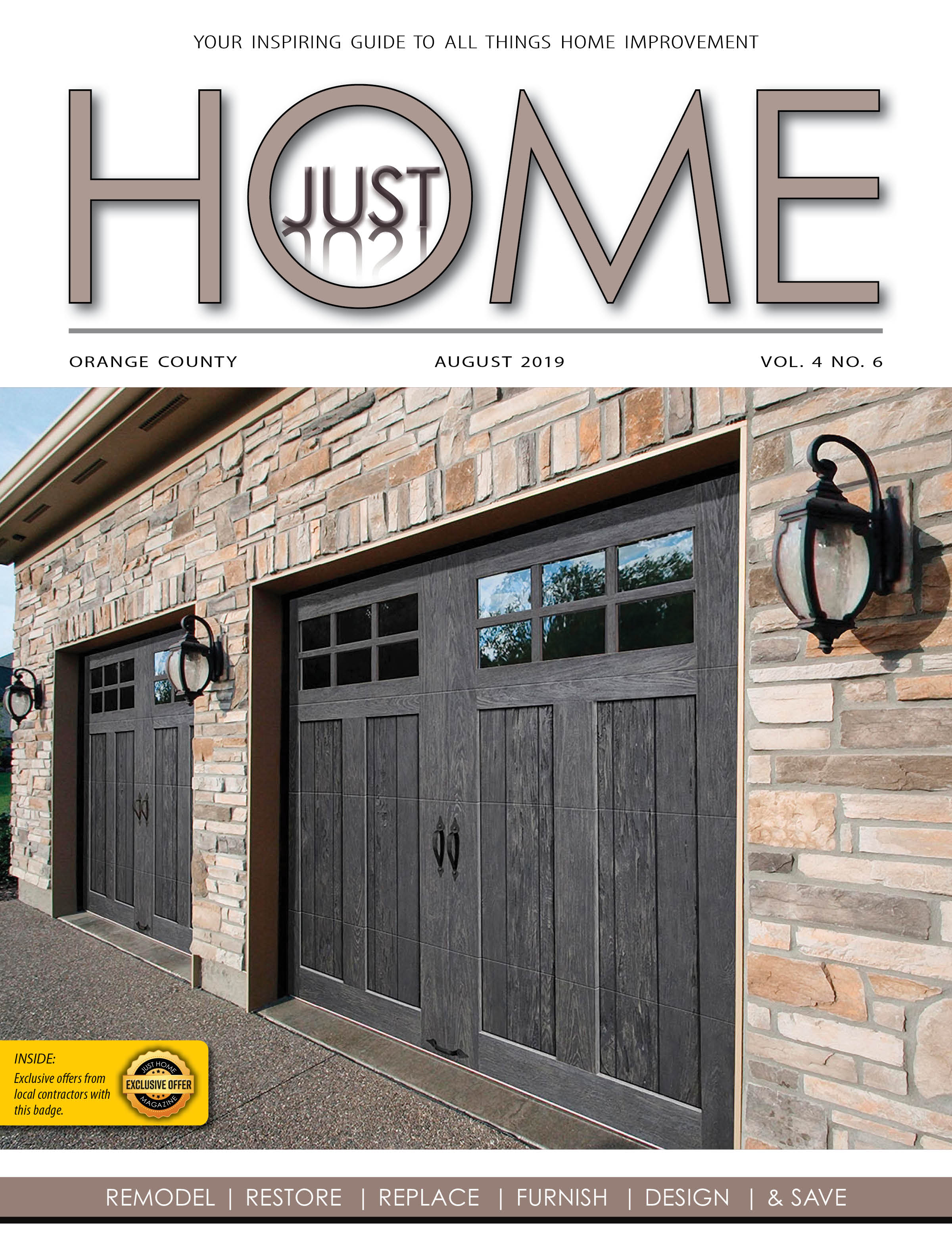 ORange County  - Just Home august 2019 ISSUE