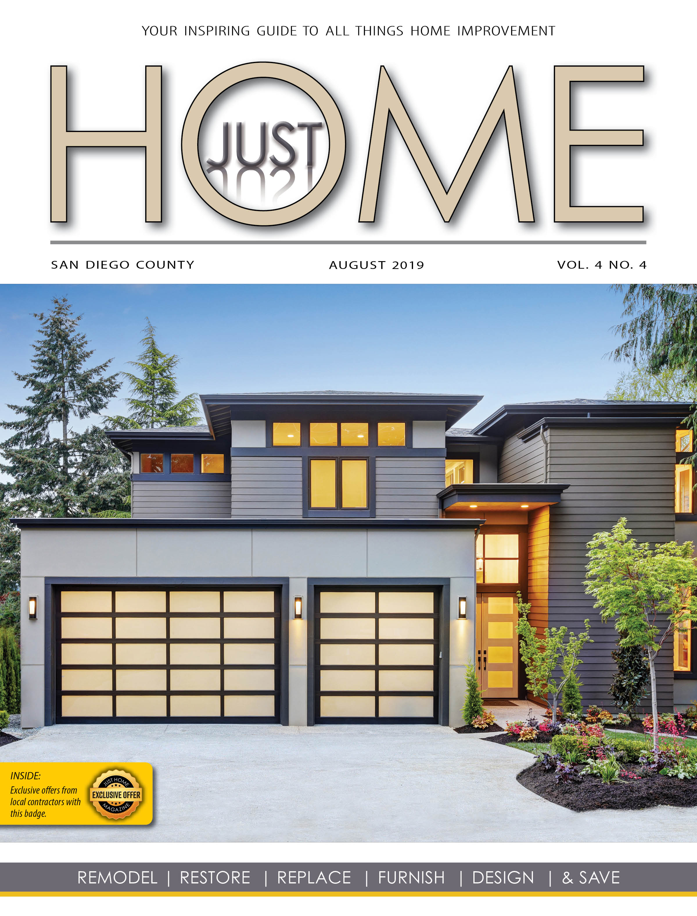 SAN DIEGO County  - Just Home august 2019 ISSUE