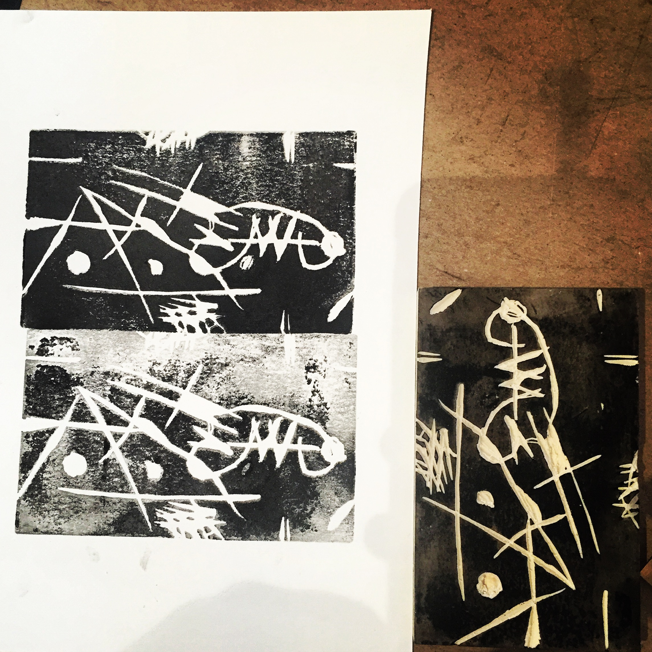 Untitled [Joan Miró-inspired print]
