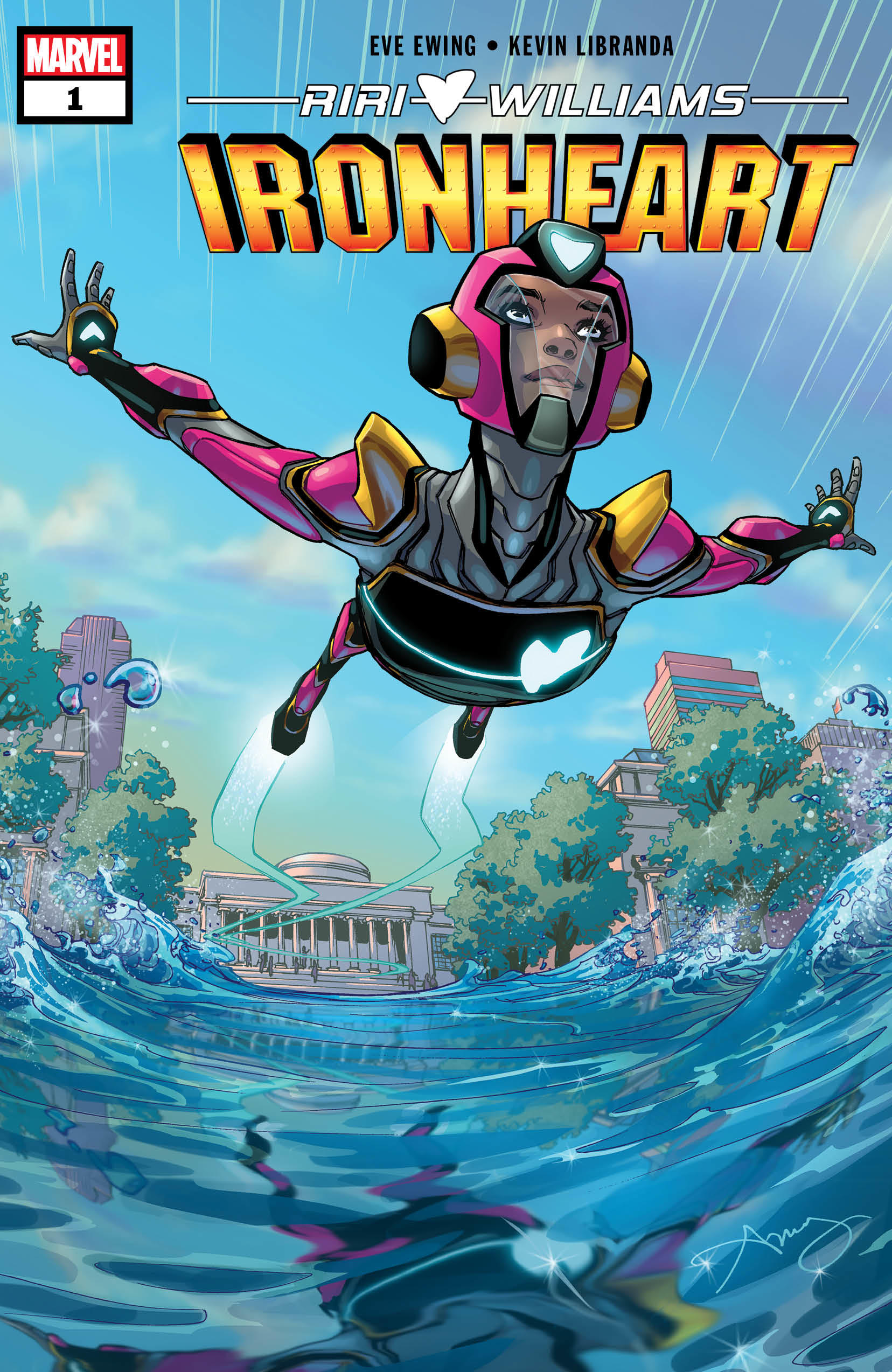Ironheart #1. Cover by Amy Reeder.