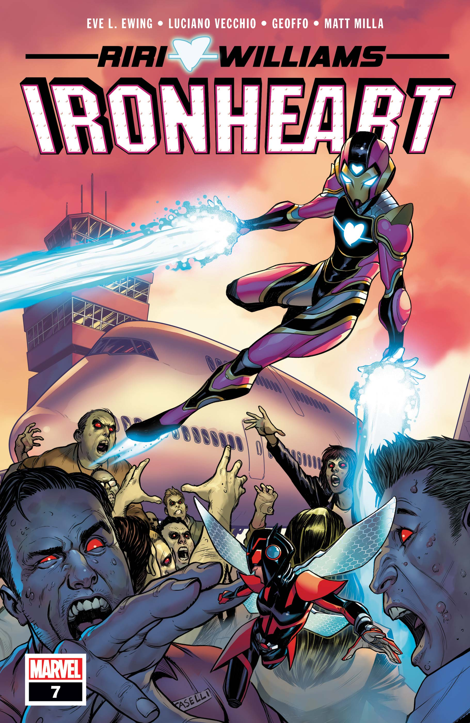 Ironheart #7. Cover by Stefano Caselli.