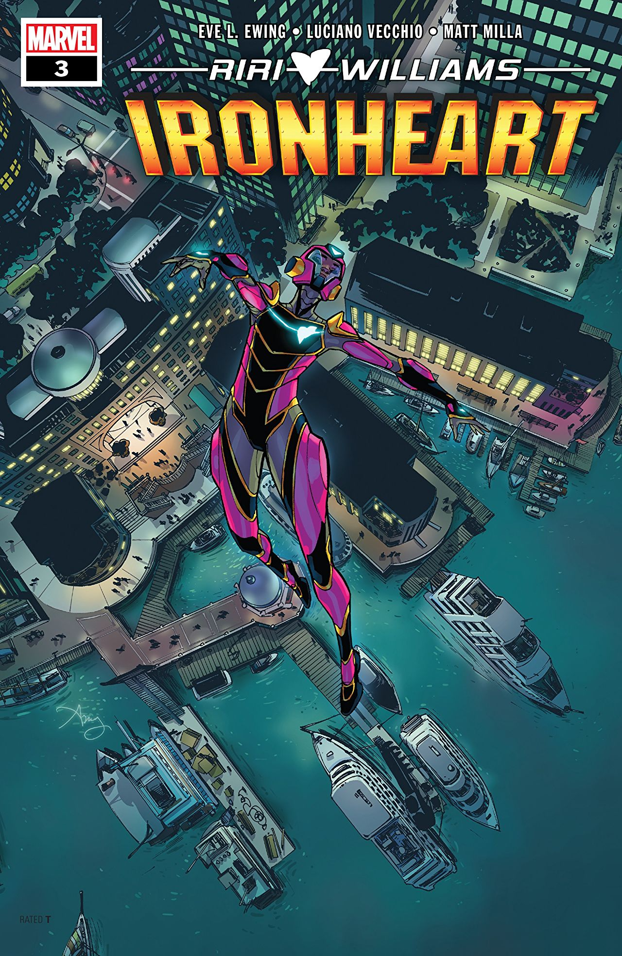 Ironheart #3. Cover by Amy Reeder.
