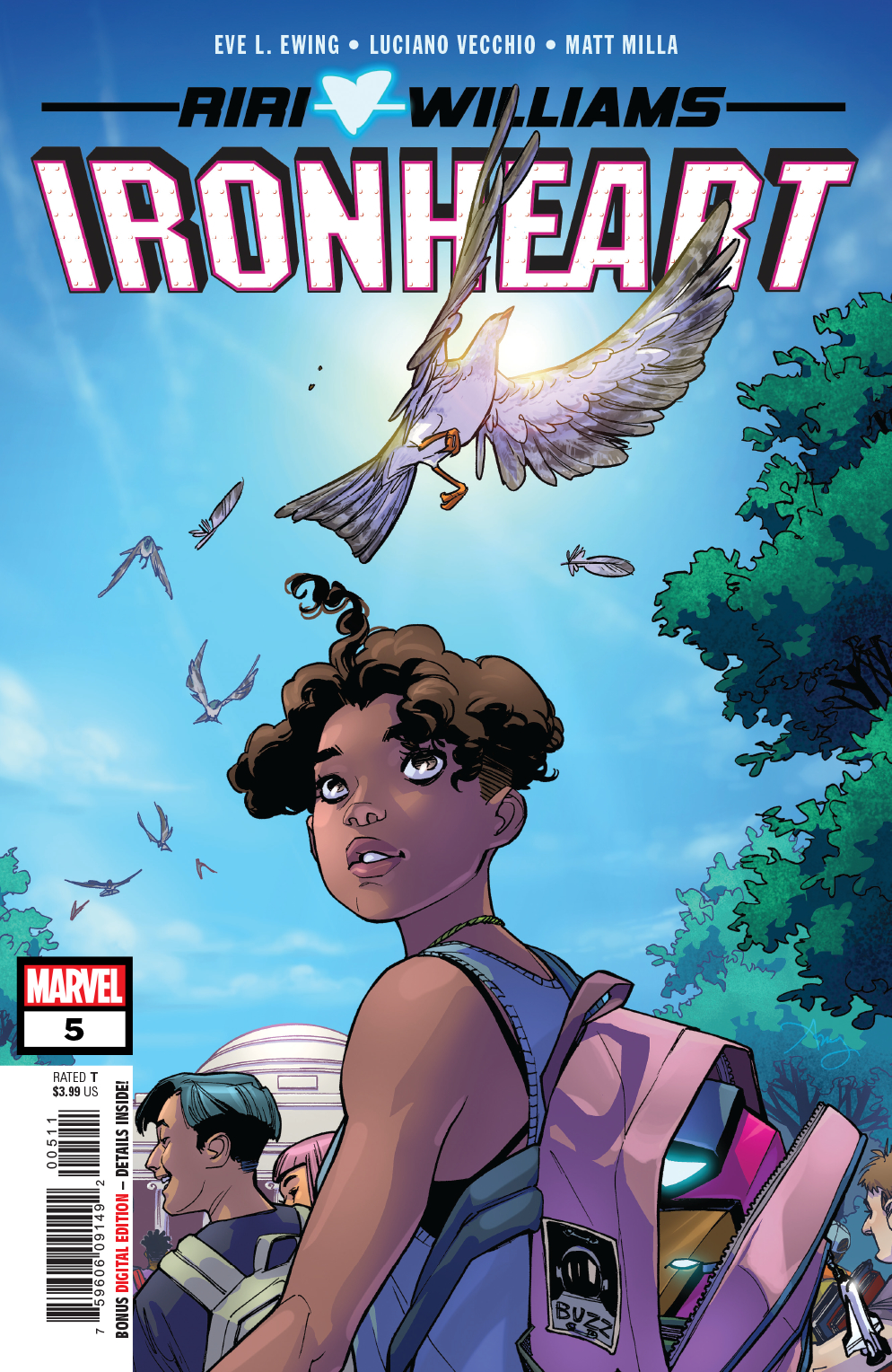 Ironheart #5. Cover by Amy Reeder.