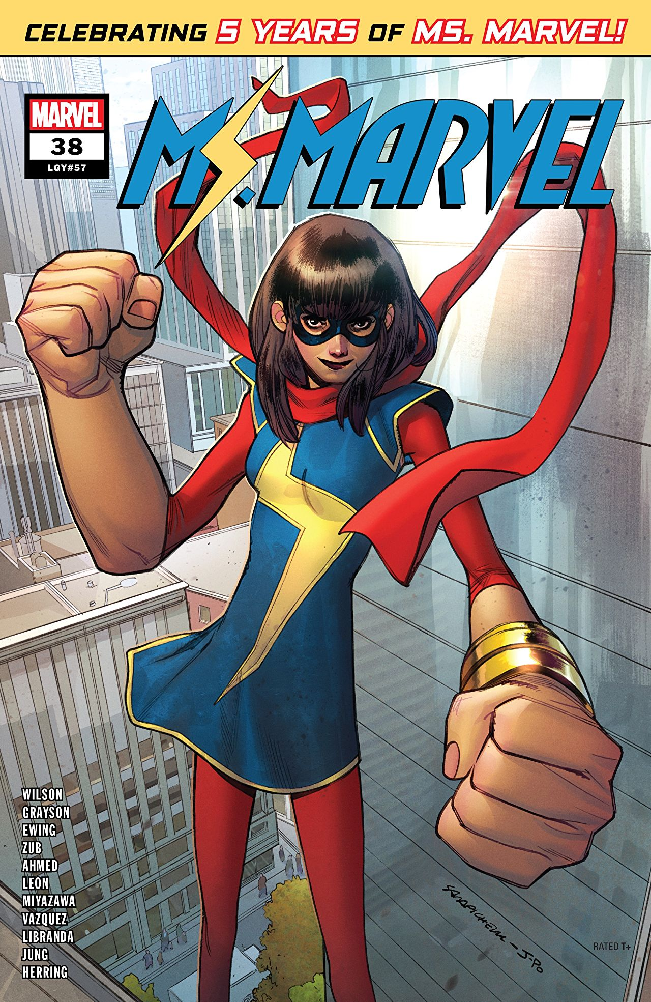 Ms. Marvel #38 [co-writer]. Cover art by Sara Pichelli.
