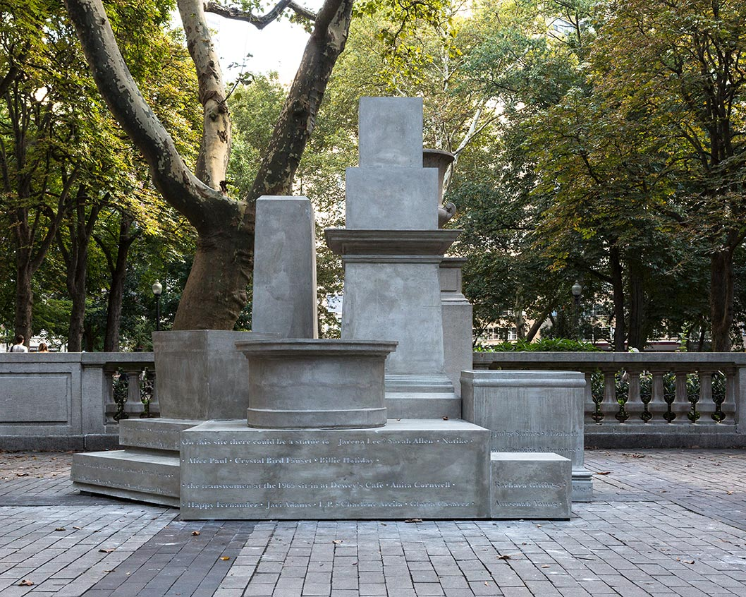 If They Should Ask  Sharon Hayes Born in 1970 • American • Based in Philadelphia Cast concrete, steel, and acrylic lettering Rittenhouse Square