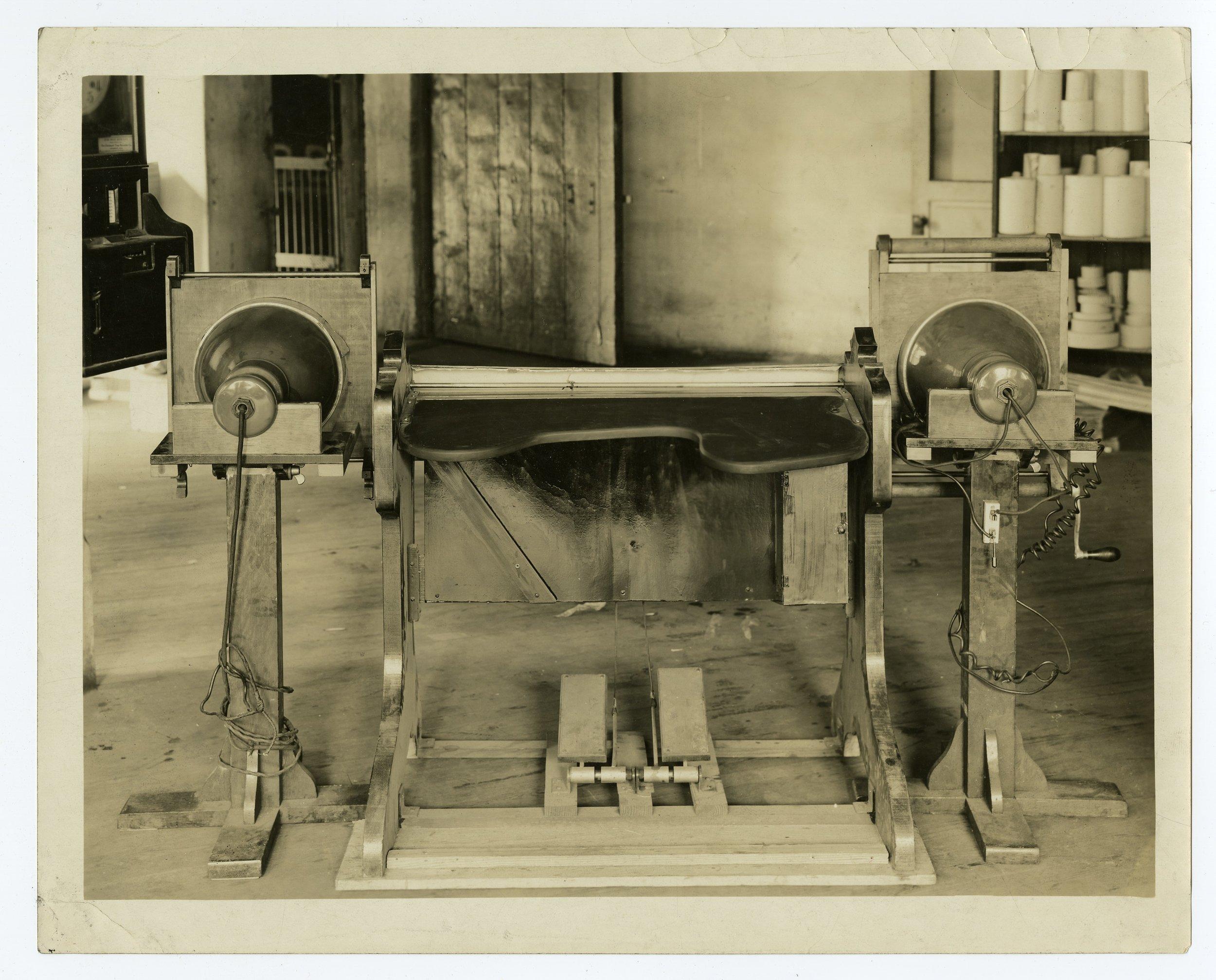 Prototype color organ that Mary Greenewalt created. Historical Society of Pennsylvania.