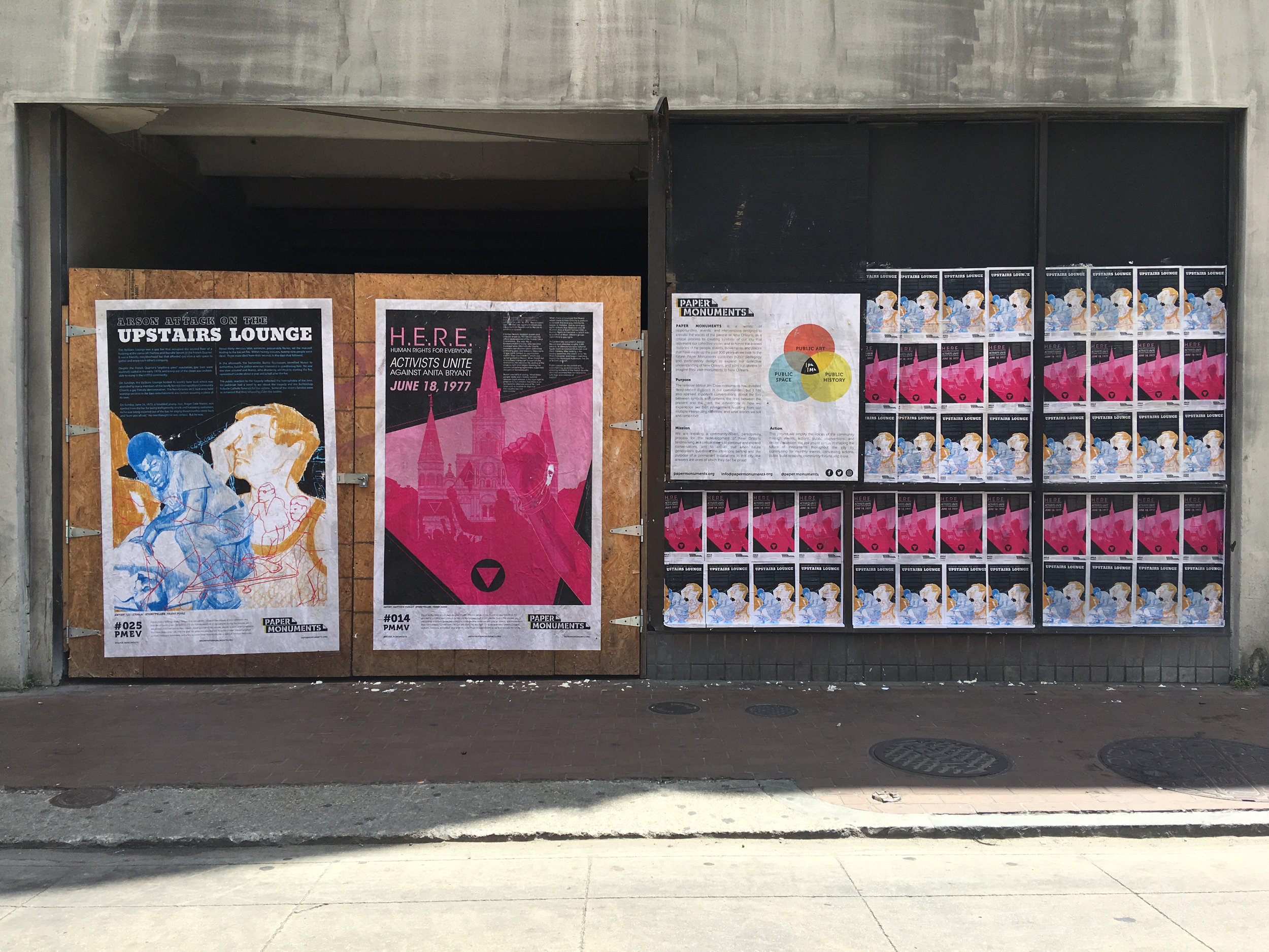 Poster Installation, Paper Monuments, 2018 (Courtesy Paper Monuments/Colloqate Design).