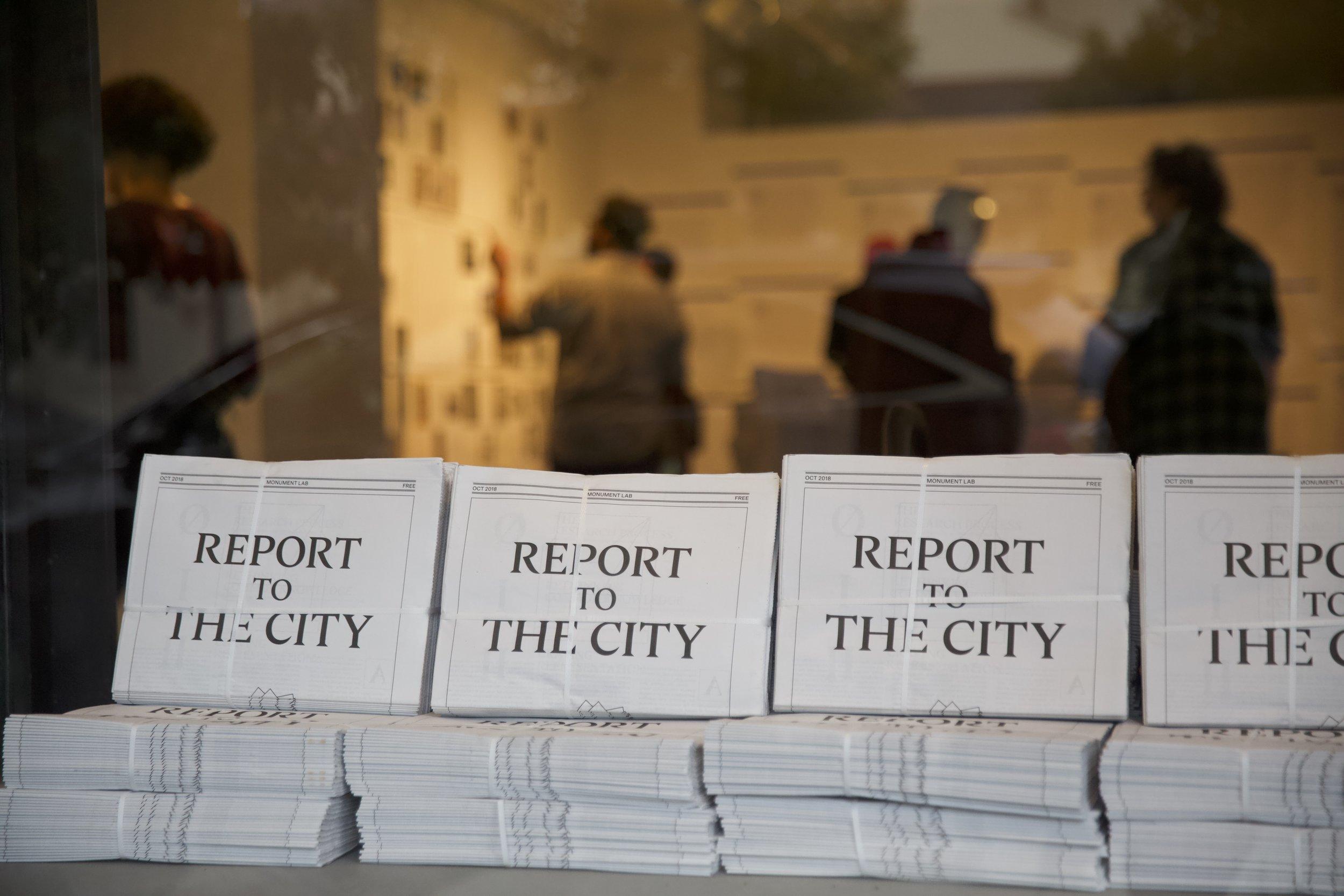 Report to the City Philadelphia, Pennsylvania