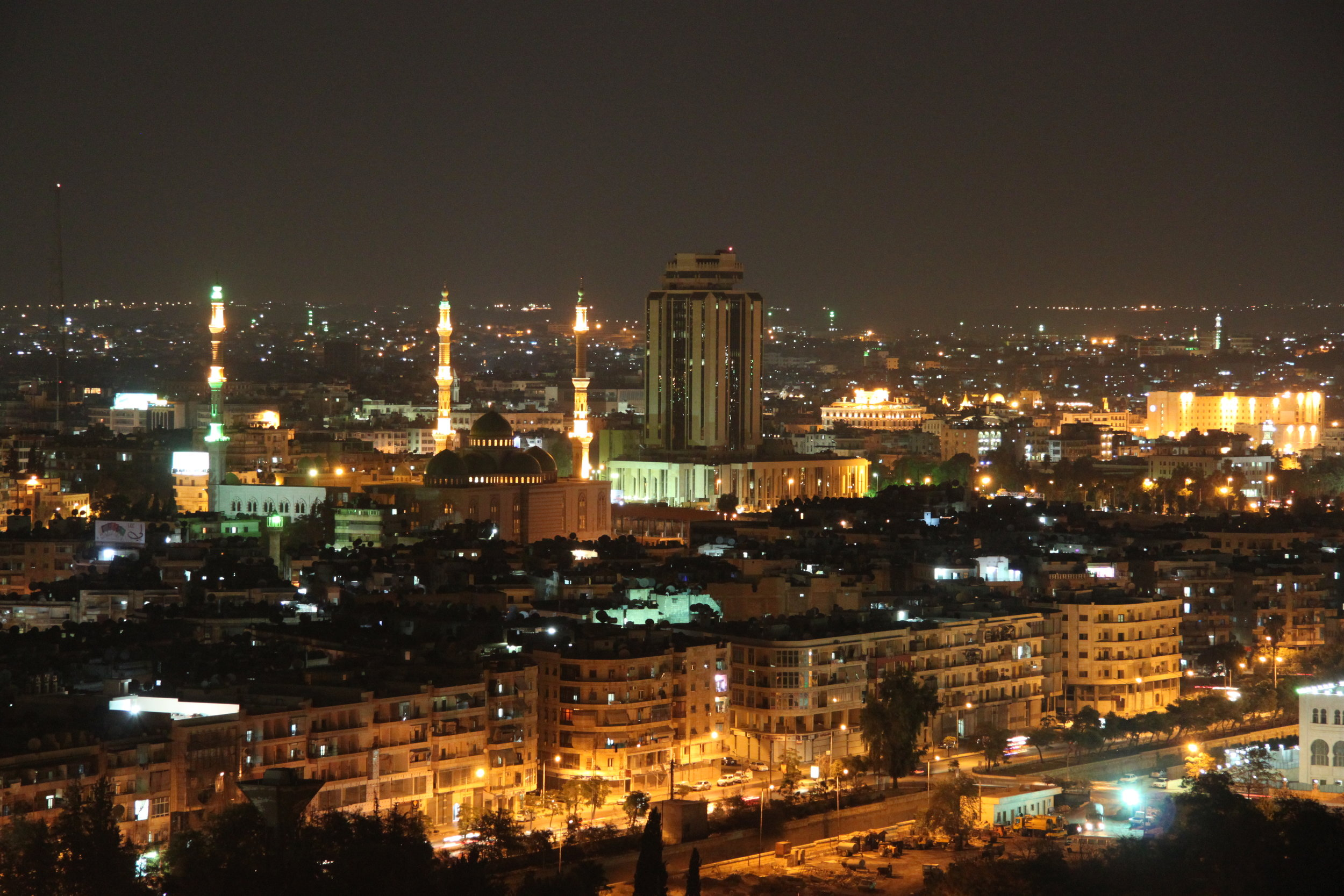 """Aleppo City at Night,"" Aleppo before the war. ( Anas A  via  Flickr  )"