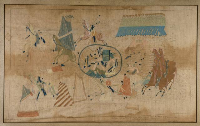 Battle of the Washita , 1890, Silverhorn (Kiowa). ( The Autry )