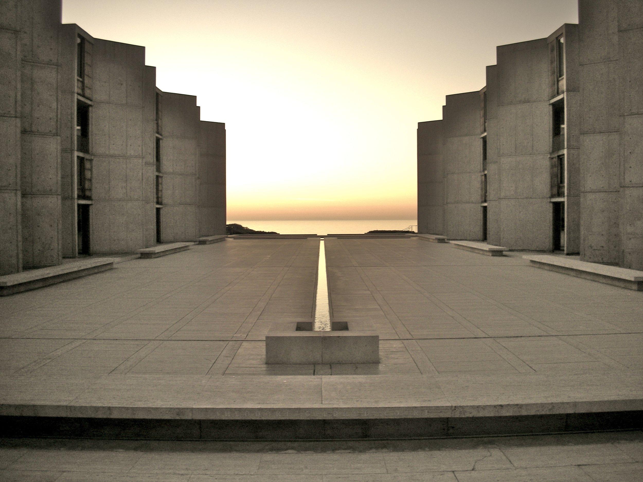 The Salk Institute by Louis Kahn, 2006. (Photo by  Alfred Essa )