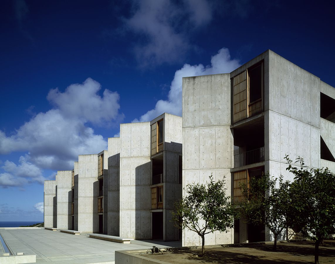 Salk Institute from interior courtyard in La Jolla, CA, 2011. (Photo courtesy of  Library of Congress )