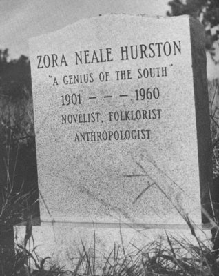 Zora Neale Hurston's gravestone, commissioned by Alice Walker. (Photo via  University of Florida's George A. Smathers Libraries )