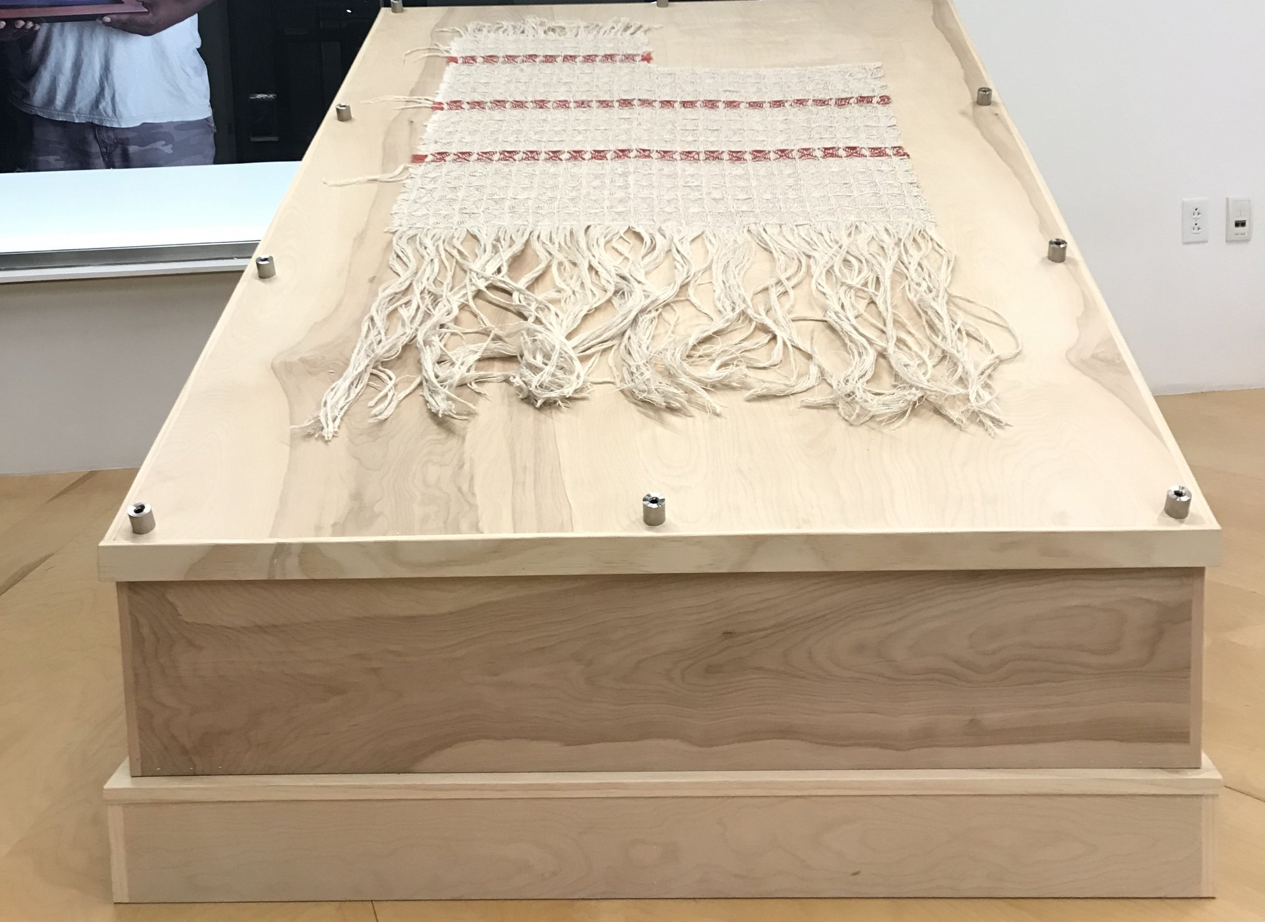 Sonya Clark, Monumental Fragment, Express Newark,  A Call to Peace , 2019. (Stephen Smeltzer/Monument Lab)