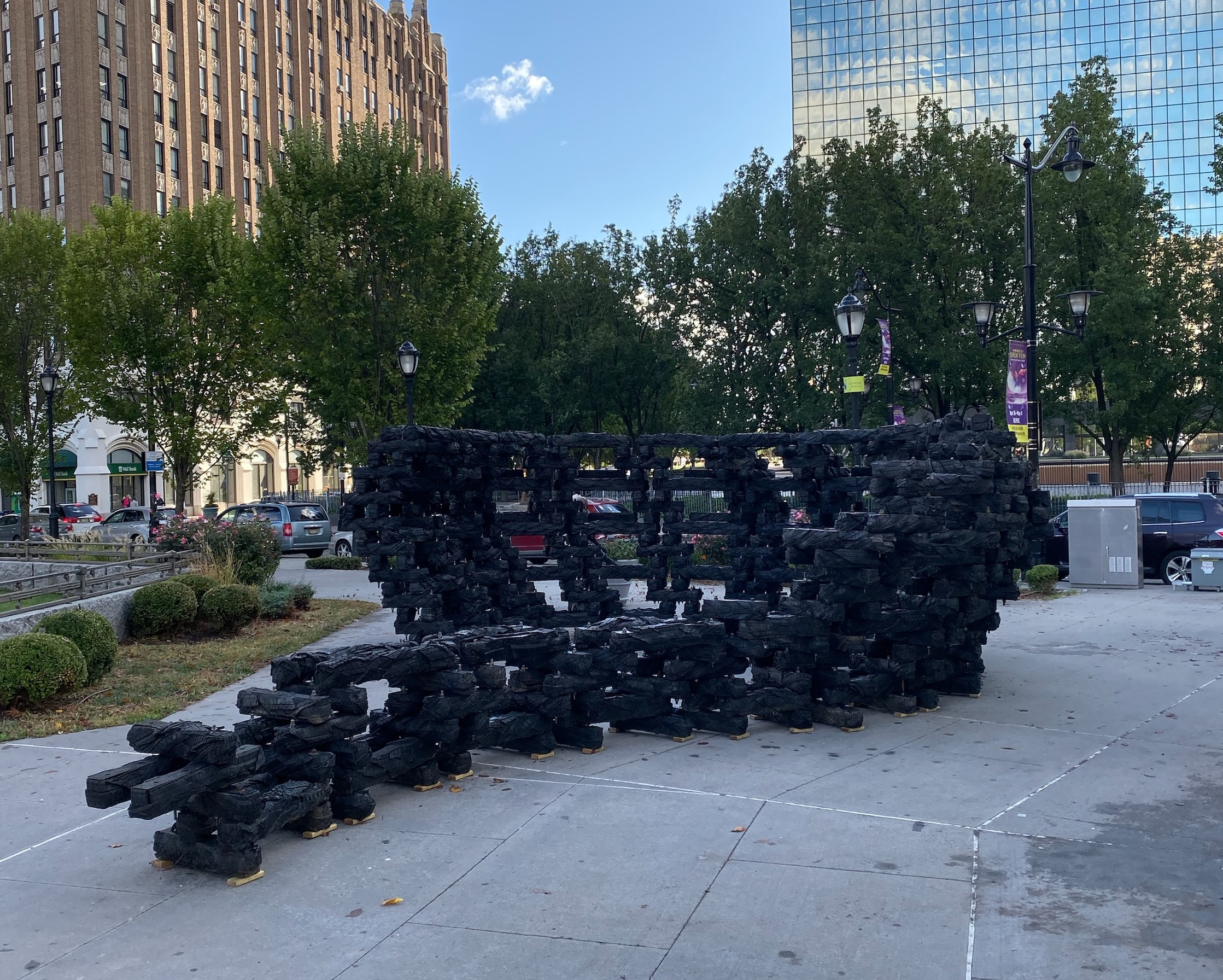 Chakaia Booker,  Serendipity,  Military Park,  A Call to Peace , 2019. (Monument Lab)