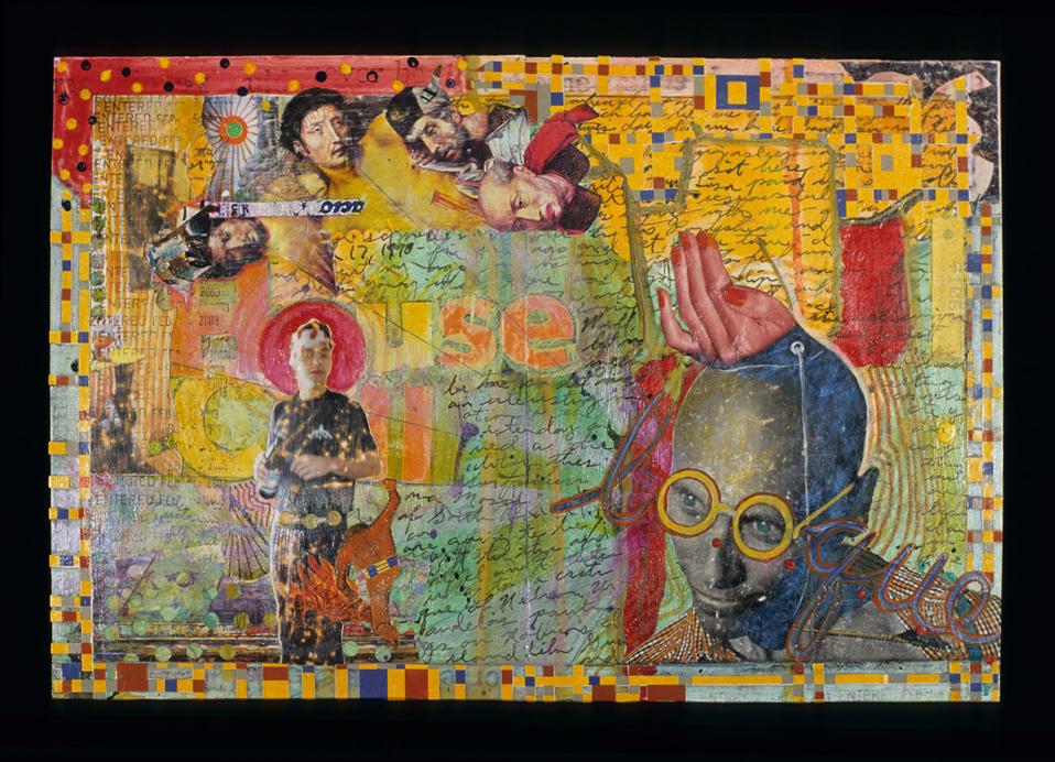l.o.o.q.u.e., 2003,Mixed media on paper, 10 x 15 inches. Private collection.