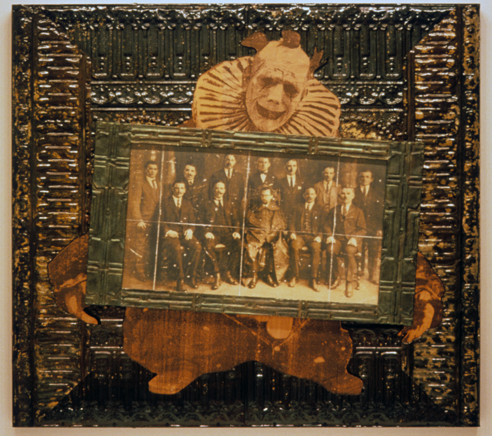 Council of Revision , 2000, Mixed media on panel, 48 x 53 x 3 inches.