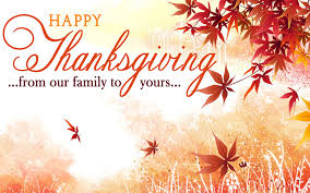 In keeping with the Fort Worth ISD, we will be closed for Thanksgiving Break.