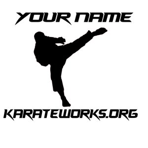 Personal Pose Car Window Or Tumbler Decal Karate Works