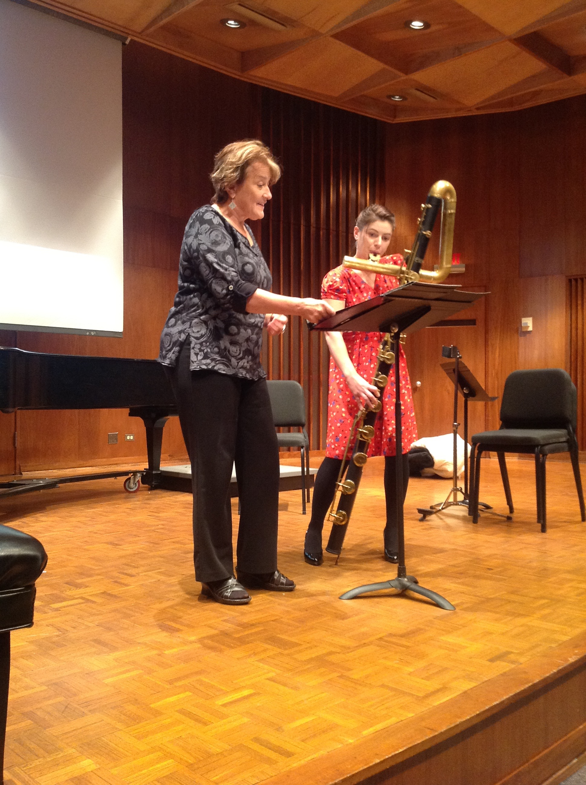 Performing with Lucy Shelton