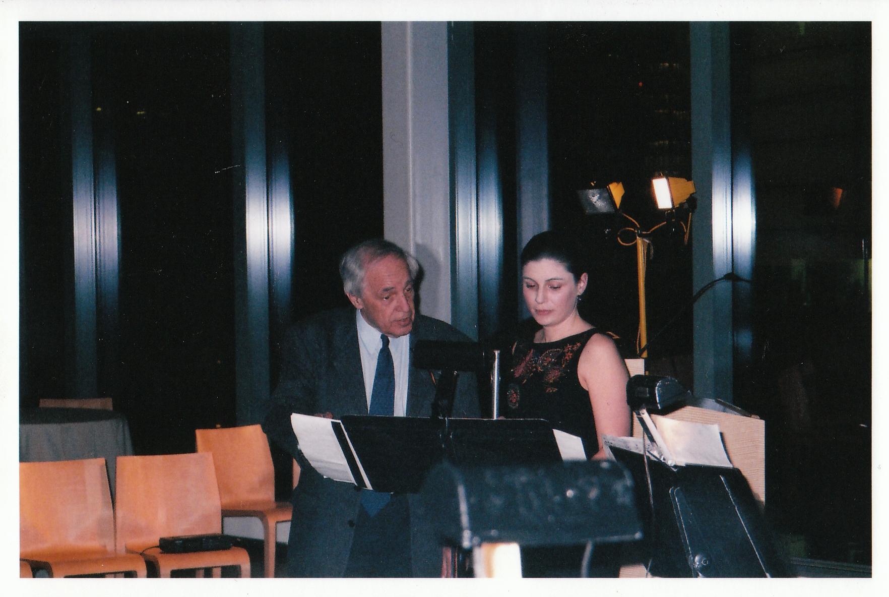 With Pierre Boulez