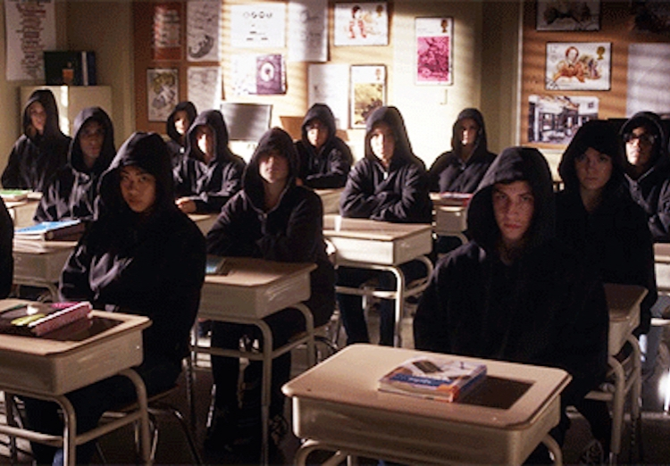 A class full of A's.  above pictures: Hanna's nightmare.