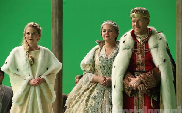 Emma (Jennifer Morrison), Snow White (Ginnifer Goodwin) and Prince Charming (Josh Dallas).