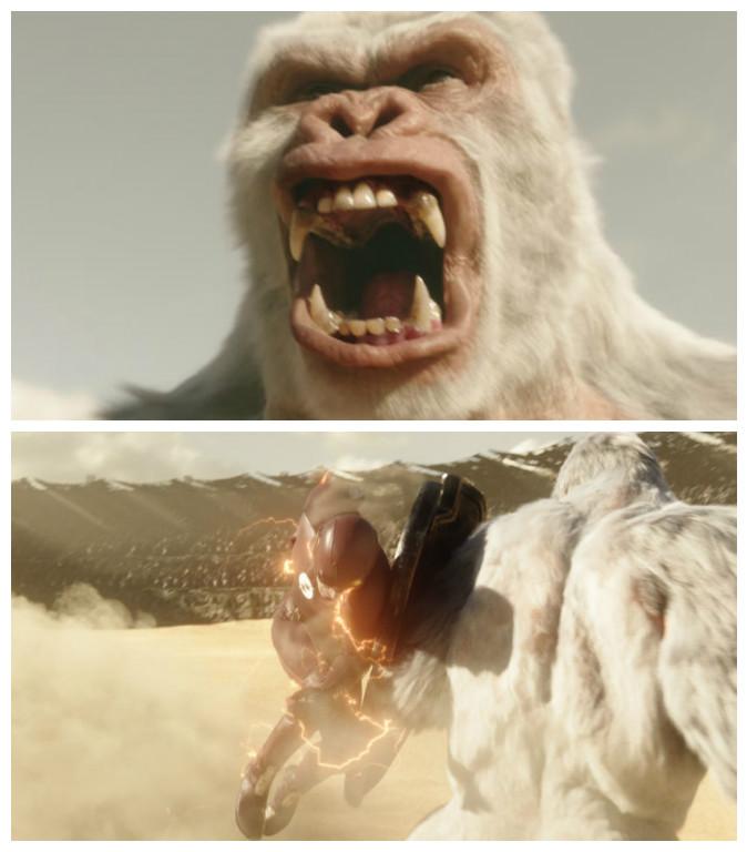The Flash battles Solovar